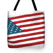 Trump Sweeps Under The Flag Rug Tote Bag