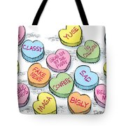 Trump Valentines Candy Uncensored Tote Bag