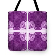 Trumpet Flowers In Abstract Tote Bag