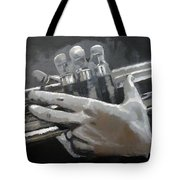 Trumpet Hands Tote Bag