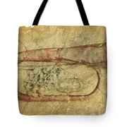 Trumpet In Grunge Style Tote Bag