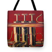 Trumpet In Red Tote Bag