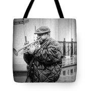 Trumpet In The Rain 2 - Nola Tote Bag