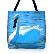 Trumpeter Swan Impressions Tote Bag