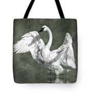 Trumpeter Swan In The Fog Tote Bag