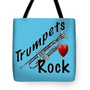 Trumpets Rock Tote Bag
