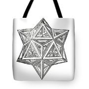 Truncated And Elevated Hexahedron With Open Faces Tote Bag