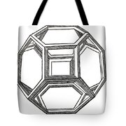 Truncated Octahedron With Open Faces Tote Bag