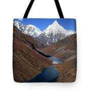 Tsho Phu Lakes And Jichu Drake Tote Bag