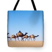 Tuareg Journey Across The Desert Tote Bag