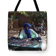 Tuareg Man Selling Jewelry Tote Bag