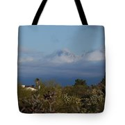 Tucson In Winter Tote Bag