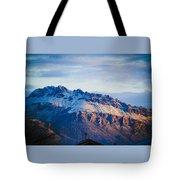 Tucson Mountains Snow Tote Bag