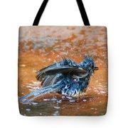 Tufted Titmouse Bath Tote Bag