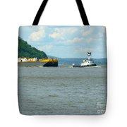 Tug And Barge Tote Bag