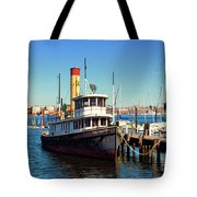 Tugboat Baltimore At The Museum Of Industry Tote Bag