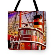 Tugboat Helen Mcallister Tote Bag by Chris Lord