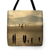 Tugboat In The Mist Tote Bag