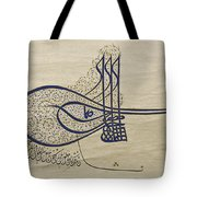 Tughra Of Suleiman The Magnificent Tote Bag