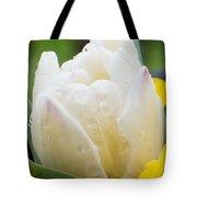 Tulip Among Pansies 2 Tote Bag