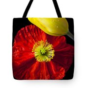 Tulip And Iceland Poppy Tote Bag
