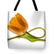 Tulip Art On White Background Tote Bag