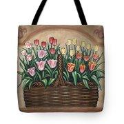 Tulip Basket Tote Bag