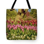 Tulip Bed At Longwood Gardens In Pa Tote Bag