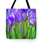 Tulip Bloomies 1 - Purple Tote Bag