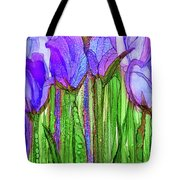Tulip Bloomies 2 - Purple Tote Bag
