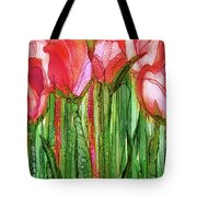 Tulip Bloomies 2 - Red Tote Bag