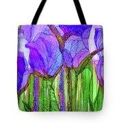 Tulip Bloomies 3 - Purple Tote Bag