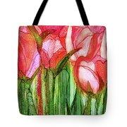 Tulip Bloomies 4 - Red Tote Bag