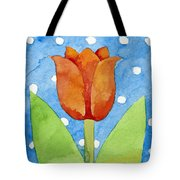Tulip Blue White Spot Background Tote Bag