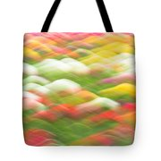 Tulip Field Abstract - Holland Michigan Tote Bag
