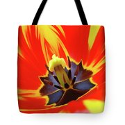 Tulip Flower Floral Art Print Red Yellow Tulips Baslee Troutman Tote Bag