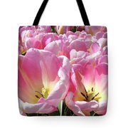 Tulip Flowers Garden Art Pink Tulips Baslee Troutman Tote Bag