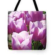 Tulip Garden Flowers Purple Lavender Pastel Art Baslee Troutman Tote Bag