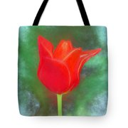 Tulip In Abstract. Tote Bag