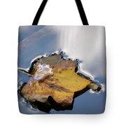 Tulip Leaf On Water Tote Bag