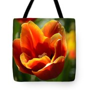 Tulip On Fire Tote Bag