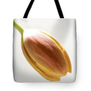 Tulip On White Tote Bag