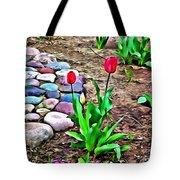 Tulip Rock Garden Tote Bag