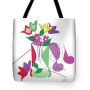 Tulip - Scribble Collection Tote Bag