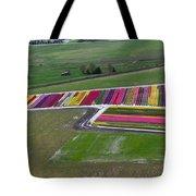 Tulip Town Aerial Tote Bag
