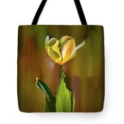 Tulip White Yellow Petals #h5 Tote Bag