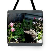 Tulips And Bluebells Tote Bag