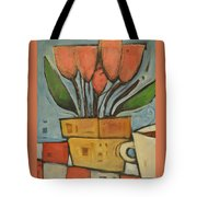 Tulips And Coffee Tote Bag