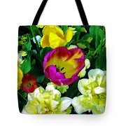 Tulips And Flowers  Tote Bag