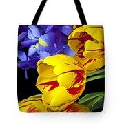 Tulips And Iris Tote Bag